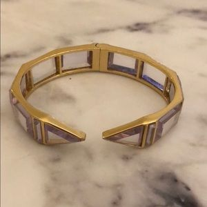 Jcrew stone and gold bracelet
